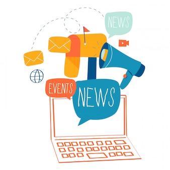 Notizie via e-mail, abbonamento e promozione