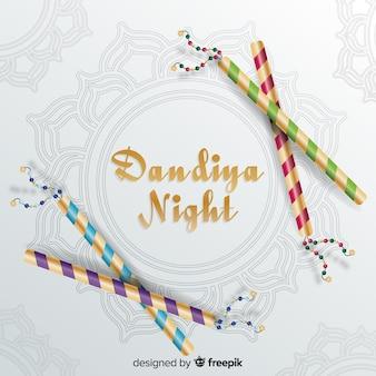 Notte dandiya con bastoni