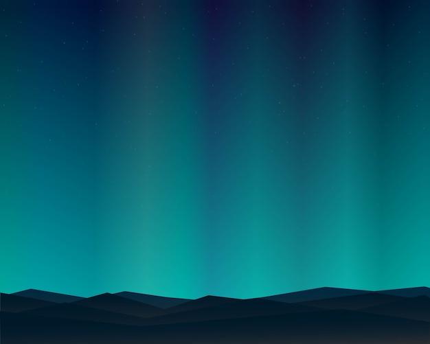 Notte del paesaggio nord della montagna