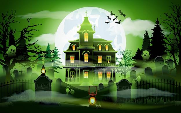 Notte di halloween sullo sfondo