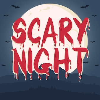 Notte spaventosa - concetto di lettering
