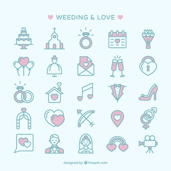 Nozze e amore icone