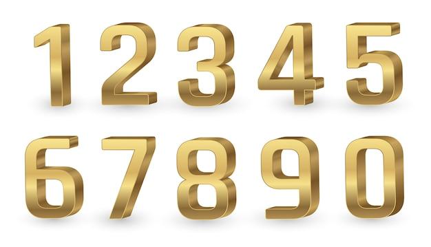 Numeri 3d oro