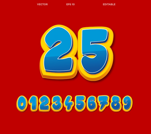 Numeri comici modificabili