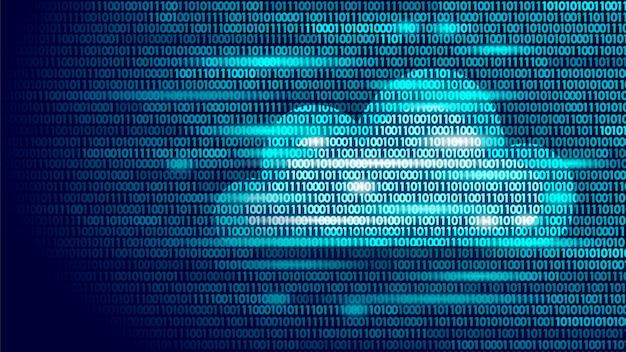 Numeri di codice binario di archiviazione online del cloud computing