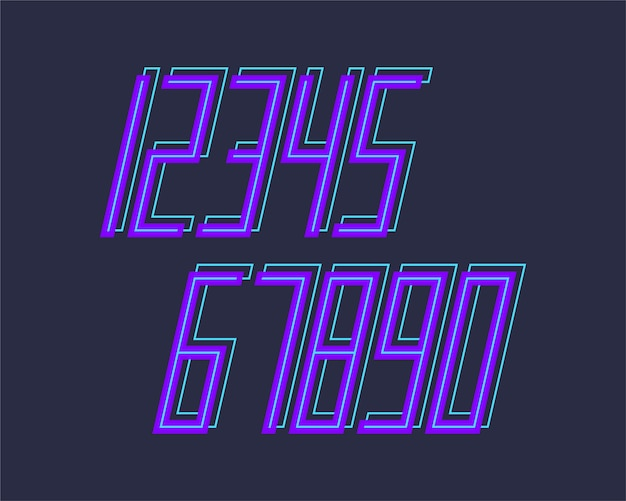 Numeri di progettazione di effetto 3d di carattere geometrico