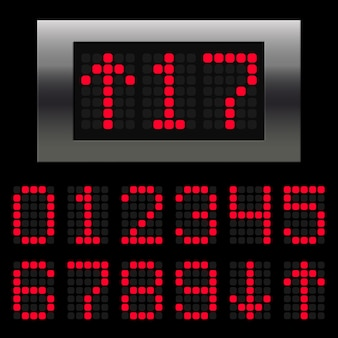 Numeri digitali dell'elevatore