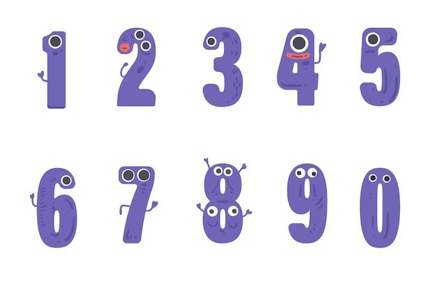 Numeri impostati in stile mostro