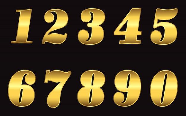 Numeri in oro metallico