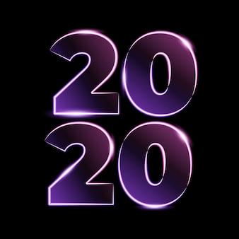 Numero 2020 effetto luce
