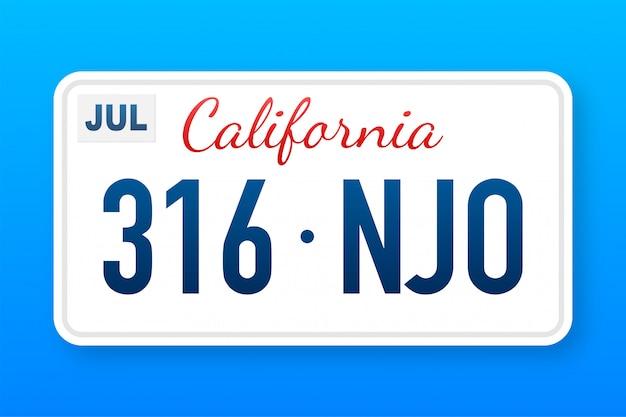 Numero california americano. stile retrò. classico simbolo retrò. modello.