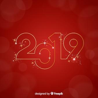 Numero d'oro anno nuovo sfondo