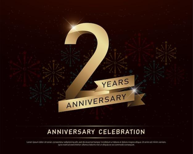 Numero d'oro della celebrazione dell'anniversario del secondo anno