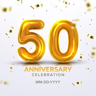 Numero di celebrazione del cinquantesimo anniversario