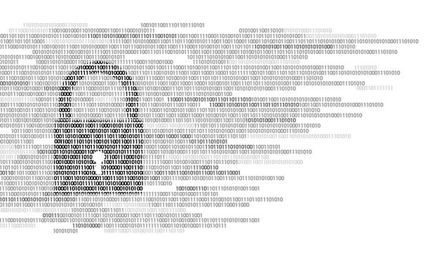 Numero di codice binario del segno di protezione della serratura digitale, big data