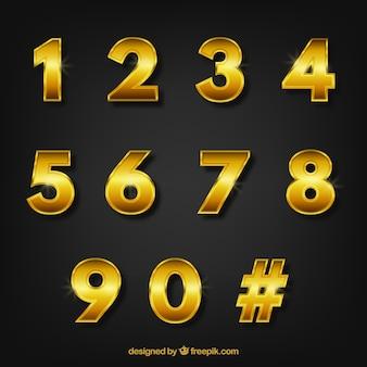 Numero di raccolta con stile dorato