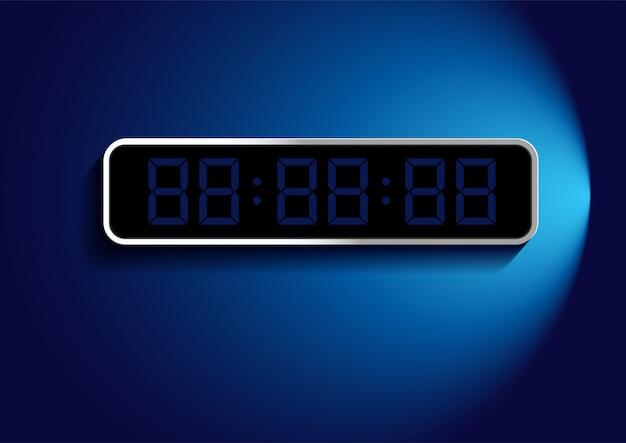 Numero digitale sulla cornice sopra il blu