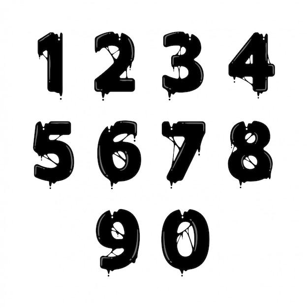 Numero nero liquido design