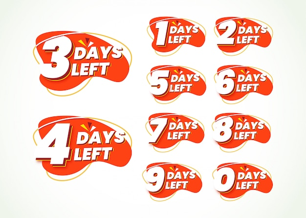 Numero promozionale di giorni rimanenti per lo shopping online