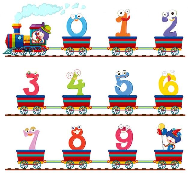 Numero zero a nove sul treno