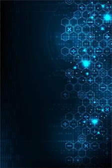 Numerosi calcoli di dati digitali.