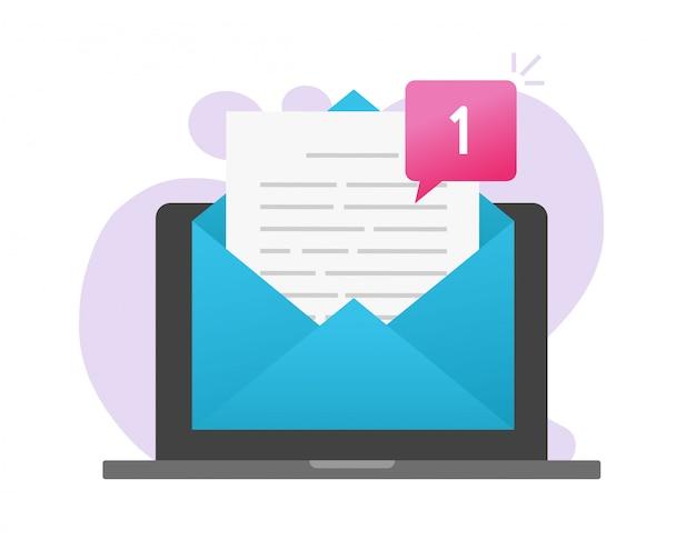Nuova newsletter e-mail o avviso di posta elettronica.