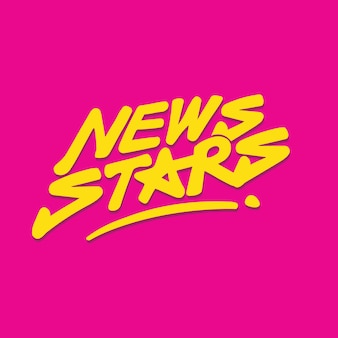 Nuova stella scritta a mano