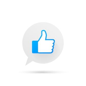 Nuove icone mi piace e amore. stampato su carta social media.