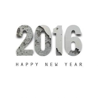 Nuovo anno 2016 con texture disegno di testo