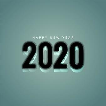 Nuovo anno 2020 elegante sfondo moderno