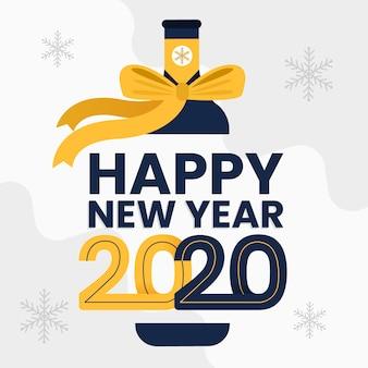 Nuovo anno 2020 in design piatto