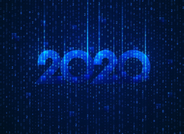 Nuovo anno 2020 in tecnologia concettuale