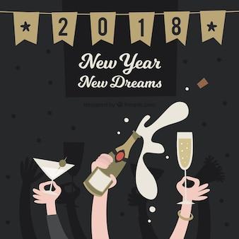 Nuovo anno nuovo sogni sfondo