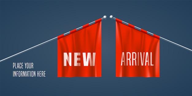 Nuovo banner di arrivo, sfondo