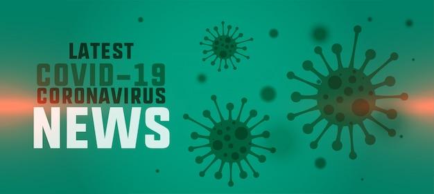 Nuovo concetto di banner di ultime notizie e aggiornamenti di coronavirus
