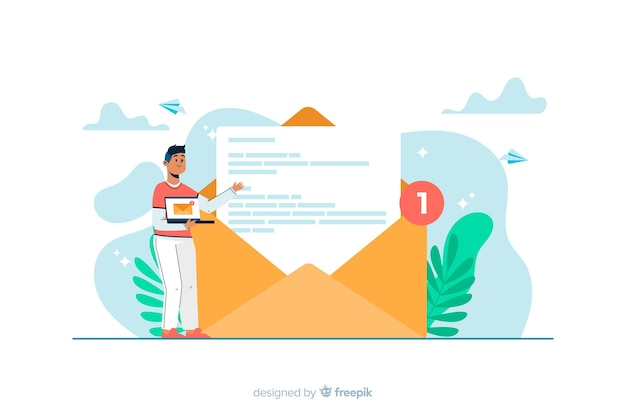 Nuovo concetto di messaggio per landing page