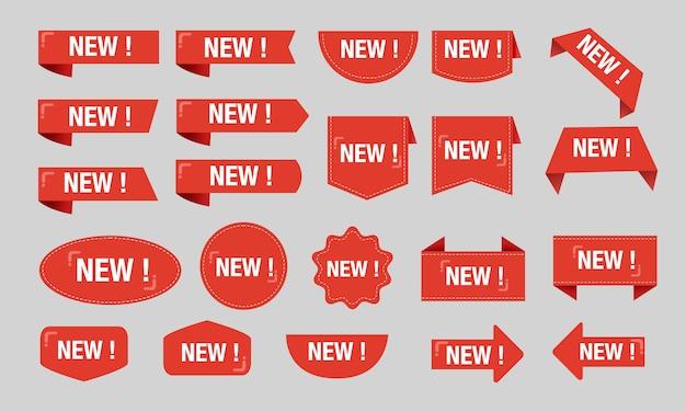 Nuovo grande insieme rosso della raccolta di vendita di sconto dell'etichetta