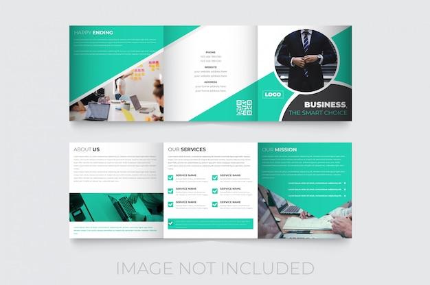 Nuovo modello di brochure a tre ante quadrato creativo