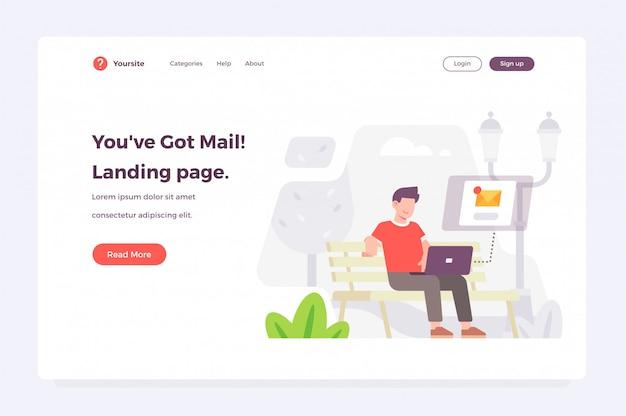 Nuovo modello web di pagina di destinazione messaggio ricevuto