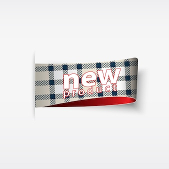 Nuovo prodotto. adesivi e tag plaid