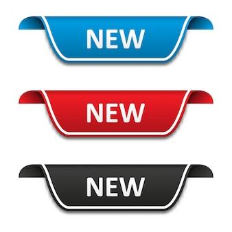 Nuovo set di etichette per tag