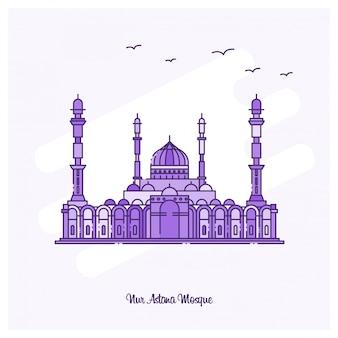 Nur astana mosque landmark