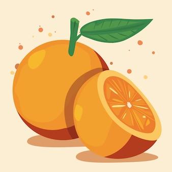 Nutrizione deliziosa della frutta fresca arancio