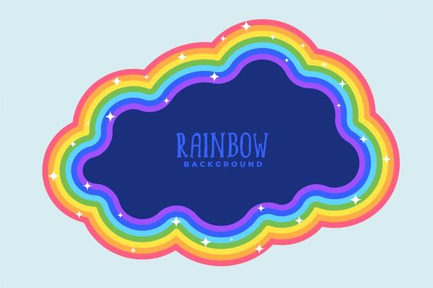Nuvola arcobaleno con spazio testo