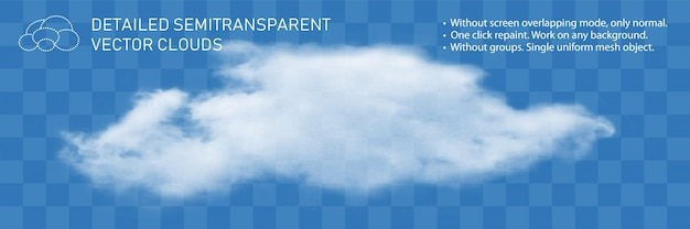 Nuvola di fontana flusso di vapore naturale dettagliato realistico trasparente.