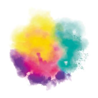 Nuvola di polvere realistica colorata