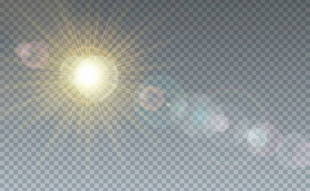 Nuvola e luce solare sfondo trasparente