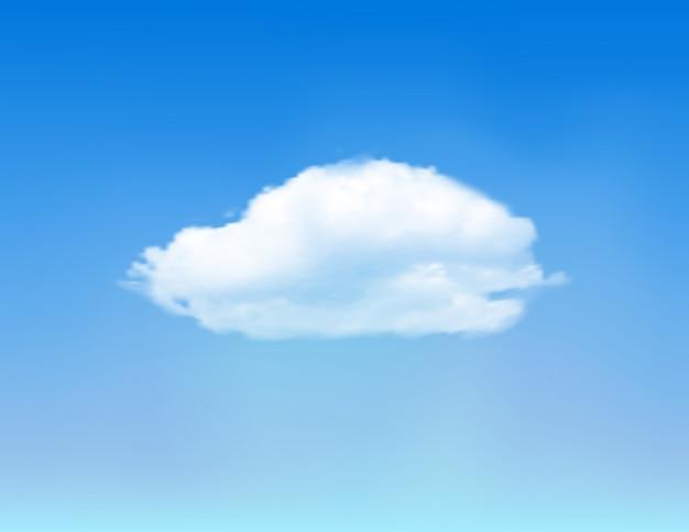 Nuvola sul cielo blu.
