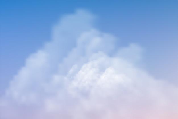 Nuvole bianche su sfondo blu cielo