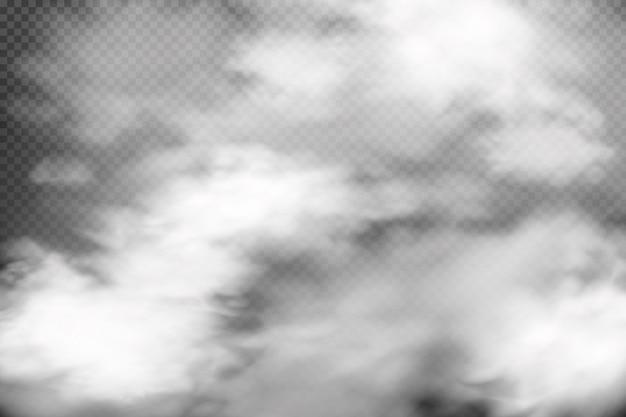 Nuvolosità bianca, nebbia o fumo su sfondo scuro a scacchi.